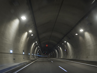 fiber optic LHD tunnel safety road highway